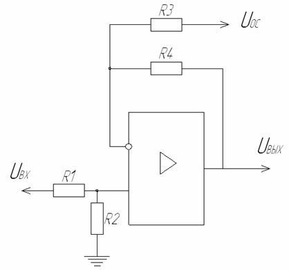 При этом должны выполняться следующие соотношения номиналов резисторов.  Рис.23 Вычитающая схема включения ОУ.