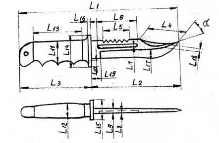 Схема измерений конструктивных